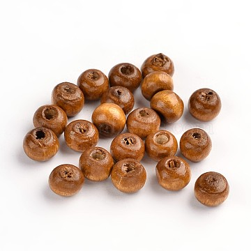 6mm Coffee Round Wood Beads
