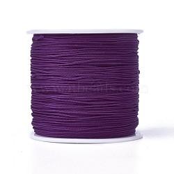 Cordons de fibre de polyester à fil rond, indigo, 0.7mm, environ 100 m / bibone (OCOR-J003-18)