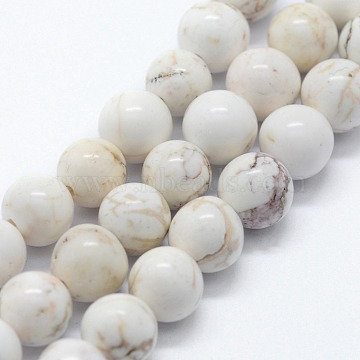 Natural Magnestite Beads Strands, Round, 8mm, Hole: 0.8mm, about 47pcs/strand,  14.96 inches(38cm)(X-G-I199-27-8mm)