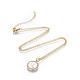 Brass Initial Pendant Necklaces(NJEW-I230-24G-Q)-1