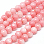 6mm Pink Round Freshwater Shell Beads(X-SHEL-M012-01)