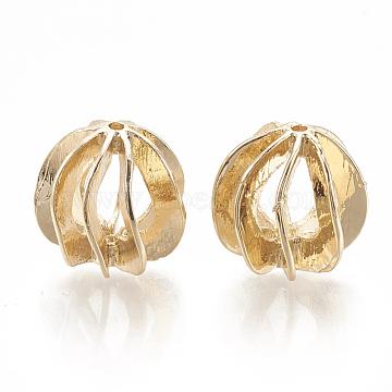 Real Platinum Plated Round Brass Beads