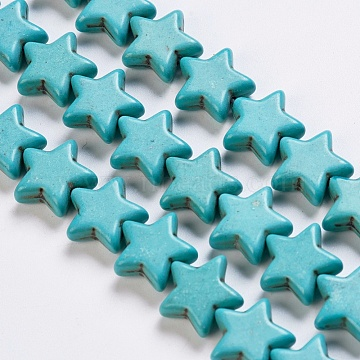 15mm Star Synthetic Turquoise Beads
