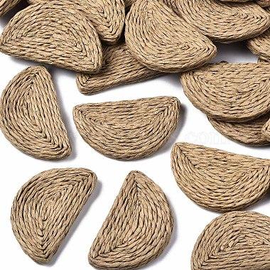 Tan Half Round Rattan Beads