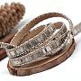 8mm Silver Imitation Leather Thread & Cord(X-LC-Q010-04C)