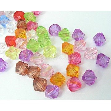 14mm Mixed Color Bicone Acrylic Beads