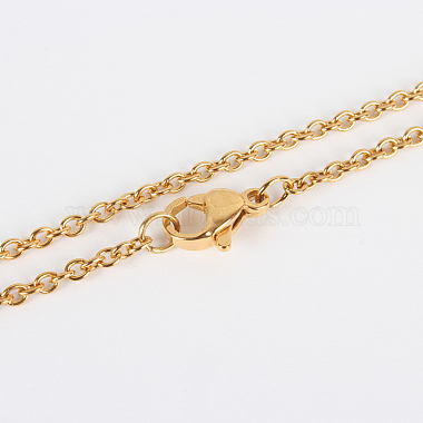304 Stainless Steel Cable Chain Necklace Making(X-STAS-P045-01G-A)-1