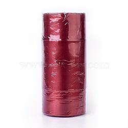"""Ruban de satin à face unique, Ruban de polyester, DarkRed, 2"""" (50 mm); environ 25yards / rouleau (22.86m / rouleau), 100yards / groupe (91.44m / groupe), 4 rouleaux / groupe(RC50MMY-033)"""