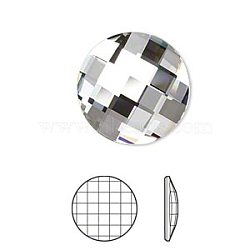 Austrian Crystal Rhinestone, 2035, Crystal Passions, Foil Back, Faceted Chessboard Round, 001_Crystal, 14x2.5mm(X-2035-14mm-001(F))