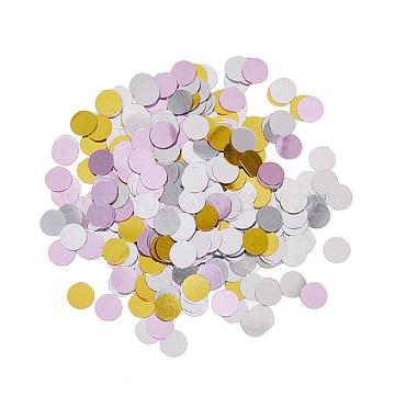 PandaHall Elite Ornament Accessories, PVC Plastic Paillette/Sequins Beads, No Hole/Undrilled, Flat Round, Mixed Color, 6~6.5x0.1mm(PVC-PH0001-19)