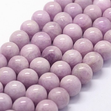 Natural Kunzite Beads Strands, Spodumene Beads, Grade AAA, Round, 12mm, Hole: 1mm; about 32pcs/strand, 15.5inches(G-K285-01-12mm)