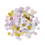 Ornament Accessories, PVC Plastic Paillette/Sequins Beads, No Hole/Undrilled, Flat Round, Mixed Color, 6~6.5x0.1mm