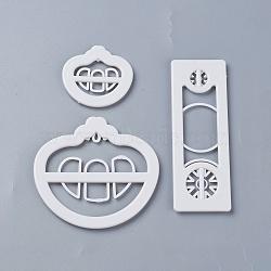 emporte-pièces en plastique de qualité alimentaire, moules à biscuits, outil de cuisson biscuit, transport, blanc, 48x51x5 mm; 80x86x4 mm; 112x40x5 mm; 3 pcs / set(DIY-L020-15)