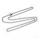 304 Stainless Steel Curb Chain Necklace Making(NJEW-S420-001A-P)-3