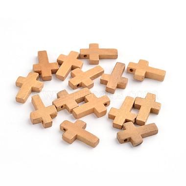 22mm Camel Cross Wood Pendants