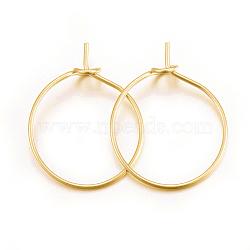 304 из нержавеющей стали бокал прелести кольца, серьги-кольца, DIY материал для баскетбола обруча серьги жены, золотой, 21 датчик, 20x15.5x0.7 mm; контактный: 0.7 mm