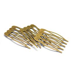 résultats de peigne de cheveux de fer, bronze antique, 25x39x1 mm(X-MAK-Q005-27)