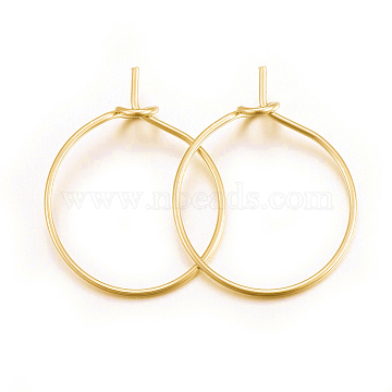 316 Surgical Stainless Steel Wine Glass Charms Rings, Hoop Earring Findings, DIY Material for Basketball Wives Hoop Earrings, Golden, 21 Gauge, 20x15.5x0.7mm; Pin: 0.7mm(X-STAS-L214-01E-G)