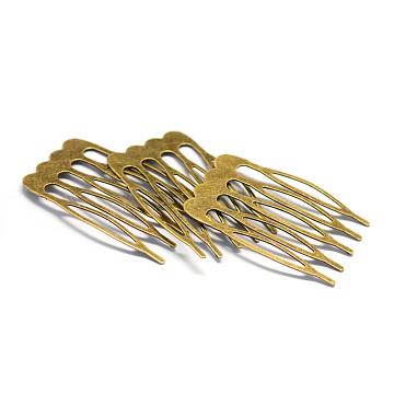Iron Hair Comb Findings, Antique Bronze, 25x39x1mm(X-MAK-Q005-27)