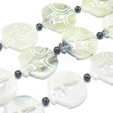 54mm Fish Xiuyan Jade Beads