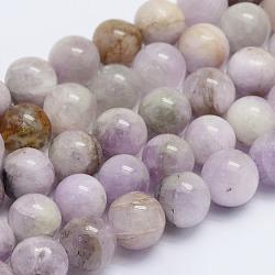 brins de perles naturelles de kunzite / spodumène, arrondir, classe ab, 8~8.5 mm, trou: 1 mm; environ 51 perle / brin, 15.7 (40 cm)(G-L478-11-8mm)