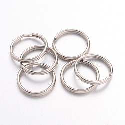 Iron Split Rings, Platinum Color, 1.5mm thick, 16mm in diameter; about 14.5mm inner diameter(X-JRD16mm)
