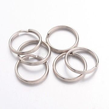 Platinum Ring Iron Split Rings