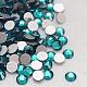 Blue Zircon Faceted Glass Flat Back Rhinestone for Nail Art(X-RGLA-C002-SS10-229)-2