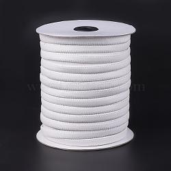 cordons en cuir imitation plat, blanc, 10x2 mm; Environ 50 m / roll (54.68 yards / roll)(OCOR-F008-C03)