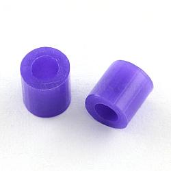 Recharges de perles à repasser en PE, Tube, mauve, 3~3.3x2.5~2.6mm(X-DIY-R013-2.5mm-A39)