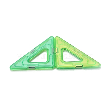 DIY Plastic Magnetic Building Blocks, 3D Building Blocks Construction Playboards, for Kids Building Toys Gift Accessories, Right Angled Triangle, Random Single Color or Random Mixed Color, 42.5x78.5x5.5mm(DIY-L046-04)