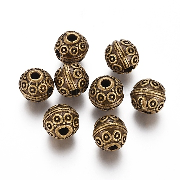 12mm Round Alloy Beads