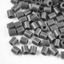 1 boîte 5 mm perles fondantes pe bricolage en perles à repasser recharges perler perles pour les enfants, Tube, darkgray, 5x5mm, trou: 3 mm; environ 500 / boîte(DIY-X0047-432C-B)