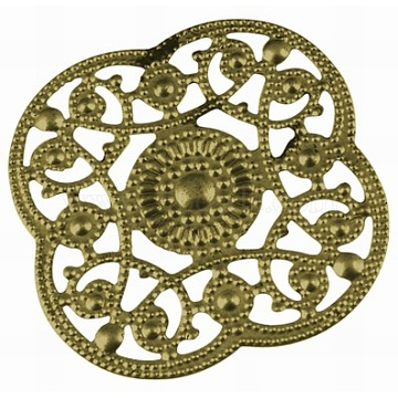 Antique Bronze Flower Iron Pendants