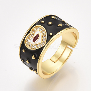 Black Brass Finger Rings