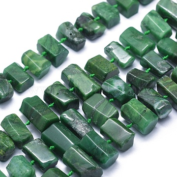 11mm Hexagon African Jade Beads