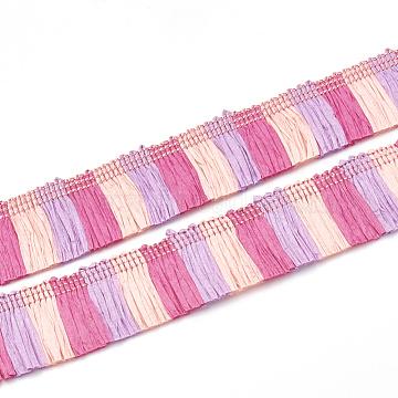 Paper Tassel Fringe Trimming, PearlPink, 27~29mm; about 25m/bag(FIND-S270-03B)