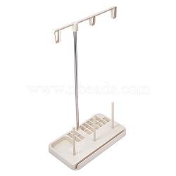 Support de fil à coudre en plastique, 3 support de support de fil de bobine, pour les outils de quilting à la maison de machine à coudre, blanc, 20.5x11.5x33.4 cm(TOOL-WH0037-05)