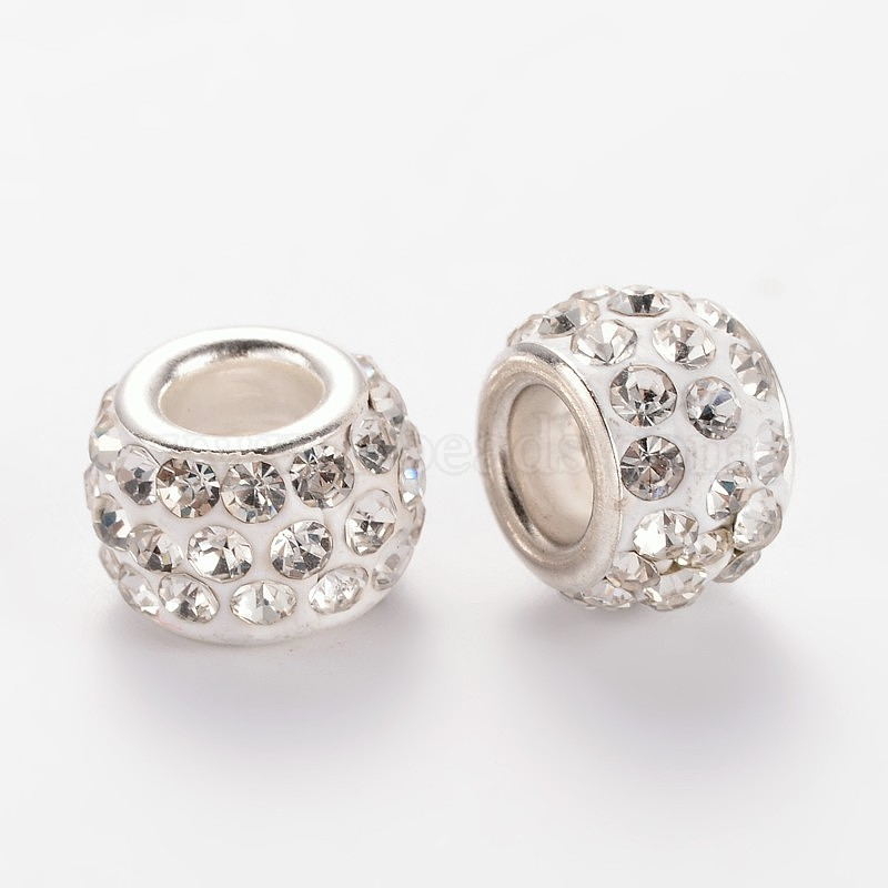 10 Alloy Rhinestone Beads