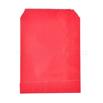 Eco-Friendly Kraft Paper Bags, Gift Bags, Shopping Bags, Rectangle, Red, 18x13x0.02cm(AJEW-M207-C01-08)