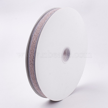 Polyester Ribbon, Pink, 1inches(25~26mm); about 100yards/roll(91.44m/roll)(SRIB-T003-10G)