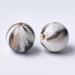 Printed Acrylic Beads, Round, NavajoWhite, 14x13.5mm, Hole: 2.5mm(MACR-T024-42A)