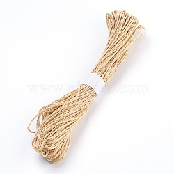 Straw Rope String, for Jewelry Making, 2-Ply, BurlyWood, 1.5mm, 30yard/bundle(OCOR-P009-C01)