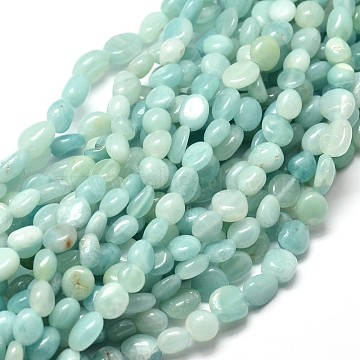 Natural Amazonite Nuggets Beads Strands, 5~10x6~7x3~7mm, hole: 1mm, about 14.9 inches~15.7 inches(X-G-J335-31)