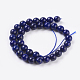 Natural Lapis Lazuli Beads Strands(G-G087-6mm)-2