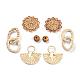 Handmade Reed Cane/Rattan Woven Pendants/Beads(WOVE-X0001-06)-1
