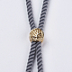 Nylon Twisted Cord Bracelet Makings(MAK-F018-07G-RS)-3