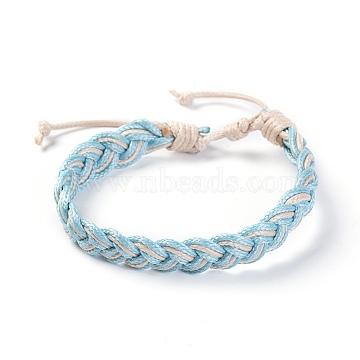 SkyBlue Waxed Cord Bracelets