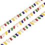 Colorful Brass+Glass Handmade Chains Chain(CHC-I006-16D)