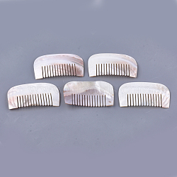 Freshwater Shell Combs, Seashell Color, 100~102x55~56x3~5mm(SSHEL-S258-64)